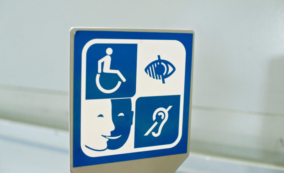 Information Sign For The Impaired - Disabled, Blind, Dumb/Mute Deaf etc